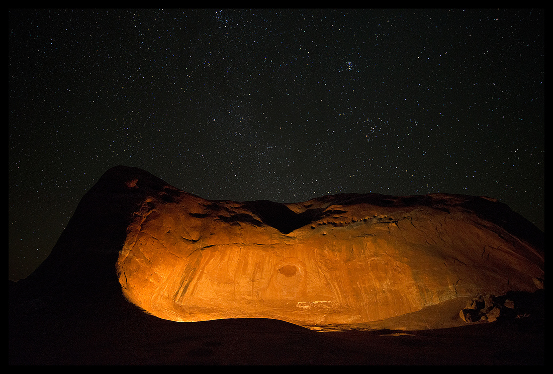 Grand Staircase Escalante National Monument - Dance Hall Rock with stars