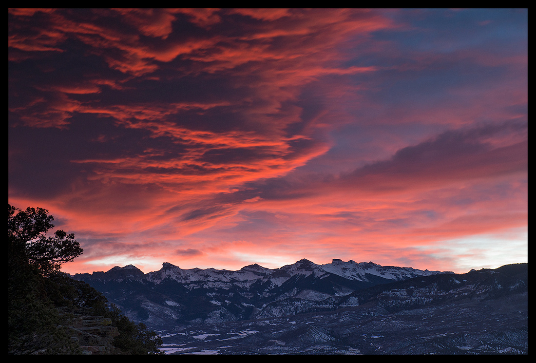 Cimarron Mountains sunrise, CO